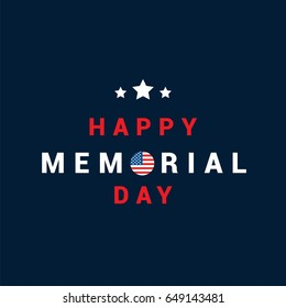 Happy Memorial Day Card Vector illustration.