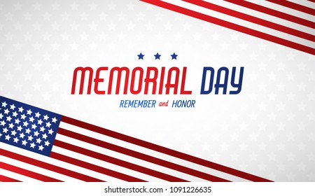 Happy Memorial Day. Greeting card. Vector illustration