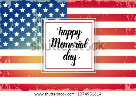 happy memorial day poster national american stock vector royalty