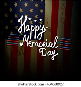 Happy Memorial Day vector background.  Memorial day greeting card