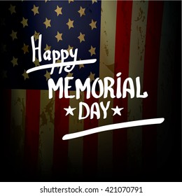 Happy Memorial Day vector background. Memorial day greeting card. USA memorial day banner.