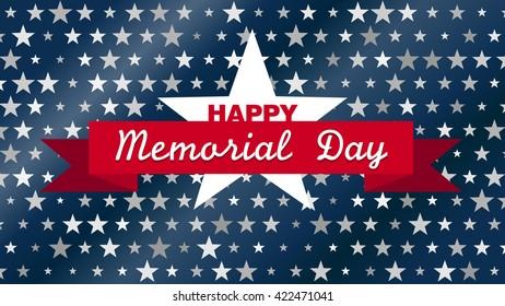 Happy Memorial Day vector background