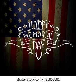 Happy Memorial Day vector background . Memorial day greeting card background. USA memorial day label. Memorial day banner
