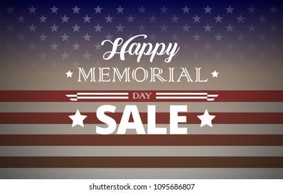 Happy Memorial Day Weekend Sale background vector illustration