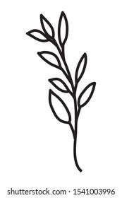 happy merry christmas leafs decoration vector illustration design