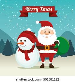 Merry Christmas Happy Christmas Companions Moonlight Stock
