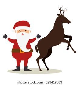 happy merry christmas santa claus character