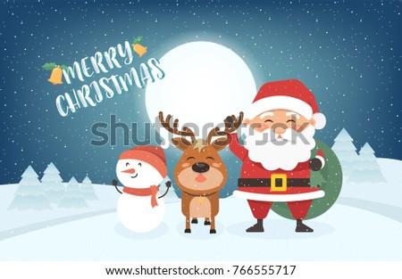 d5357d9b8a1de Happy Merry Christmas Vector Illustration Greeting Stock Vector ...