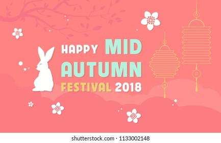 Happy Mid Autumn festival vector illustration