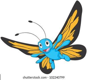 Happy Monarch Butterfly Cartoon