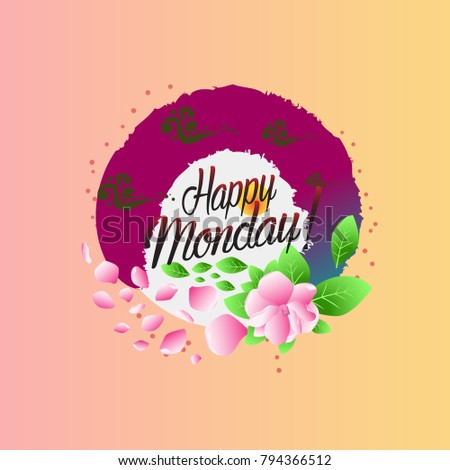 Happy monday beautiful greeting card stock vector royalty free happy monday beautiful greeting card m4hsunfo