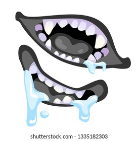 Scary Teeth Images Stock Photos Vectors Shutterstock