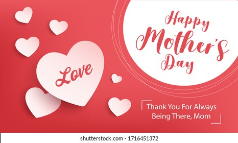 happy mother day banner design. vector illustration