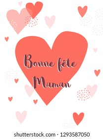 Happy Mother Day card with french text