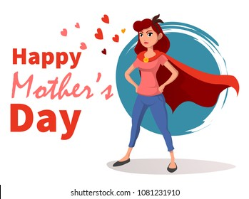 Happy mother day character.