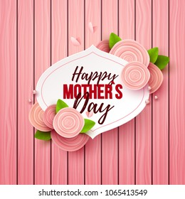 Happy Mothers Day background with flowers. Vector illustration.