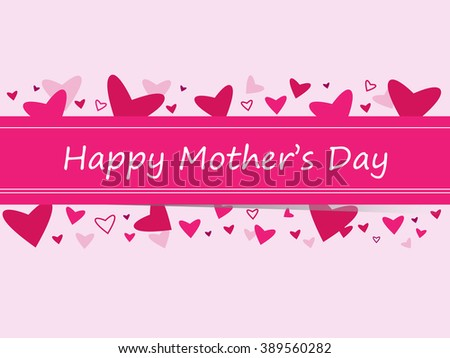 Happy Mothers Day Banner Hearts Vector Stock Royalty Free
