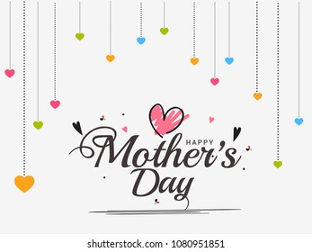 Happy Mothers Day Beautiful Greeting Card Background.