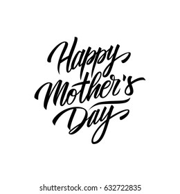 Happy Mother's Day calligraphic lettering design card template. Creative typography for holiday greetings. Vector illustration.