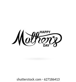 Happy Mother's Day Calligraphy Background.Happy Mother's Day Typographical Design Elements.Flat vector illustration