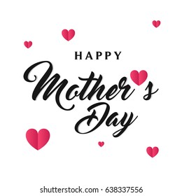 Happy Mother's day card with tiny hearts, Happy Mother's day Vector Illustration