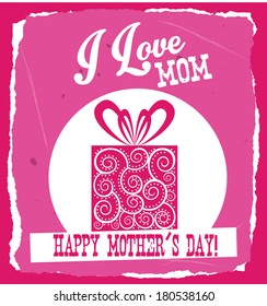 Happy Mothers day card, Vector illustration