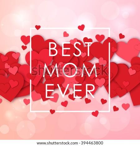 happy mothers day design elements vector のベクター画像素材