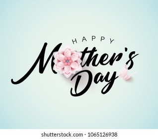 Happy Mother's Day with Flower