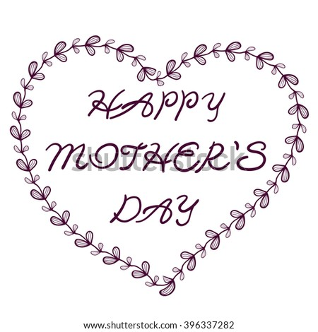 happy mothers day gift card template stock vector royalty free