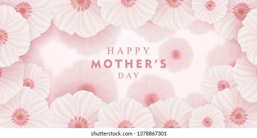 happy mother's day greeting card with flowers
