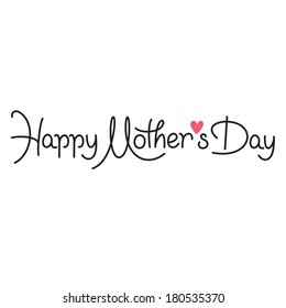 happy mothers day hand lettering handmade calligraphy