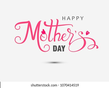 Happy mother's day layout design. Vector illustration.