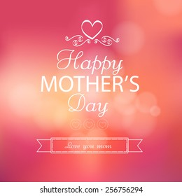 Happy Mother's Day Lettering background. vector