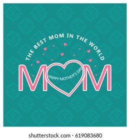 Happy Mothers Day lettering. Handmade calligraphy vector illustration. Mother's day card