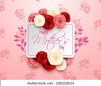 Happy Mother's Day on flowers background