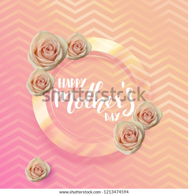 Happy Mothers Day Quote Hand Written Stock Vector (Royalty ...