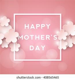 Happy mothers day. Retro background