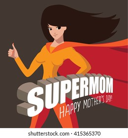Happy Mothers Day Supermom design EPS 10 vector