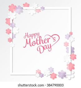 happy mother's day sweet flower background, can be use for greeting, wedding invitation, woman and valentines's day card. can be add text.  vector illustration