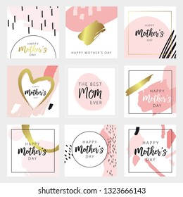 Happy mother's day template set