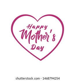 Happy Mother's Day Template Vector for Banner, Poster, Flyers, Marketing, Greeting Cards