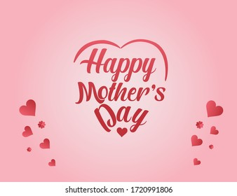 Happy mother's day typo greeting card layout design with love, lettering, colorful background. Vector illustration. Best mom/mum ever cute feminine design for menu, flyer, card, invitation.