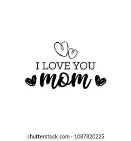 Happy Mother's Day typography. Happy Mother's Day - hand drawn lettering. Seasons greetings card perfect for prints,banners,invitations,special offer and more.