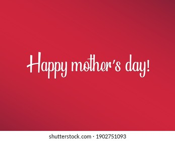 Happy mother's day vector card. Happy mother's day red pink hand  drawn lettering pattern.  - Shutterstock ID 1902751093