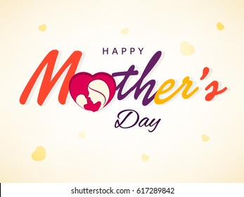 Happy Mother's Day, Vector Illustration.