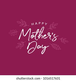 Happy Mother's Day Vector Typography
