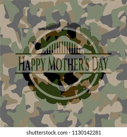 Happy Mother's Day written on a camouflage texture