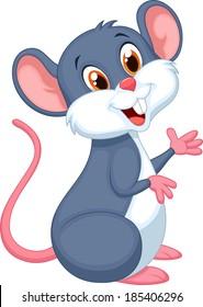 Happy mouse cartoon