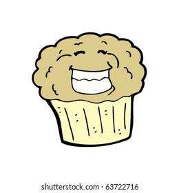 happy muffin cartoon