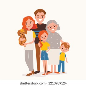 Happy multi-generational family. Family portrait